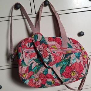 Vera Bradley Compact Traveler Bag Vintage Floral